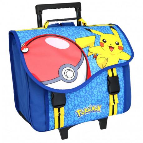 check-out 98dd9 920ee Cartable à roulettes Pokemon Pikachu 41 CM Haut de Gamme