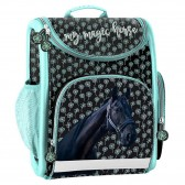 Rigid backpack horse Flower 37 CM high end