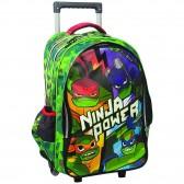 Sac à dos à roulettes Tortue Ninja Power 45 CM Haut de gamme - Cartable