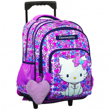 Rolling Backpack Charmmy Kitty Star 43 CM - Trolley