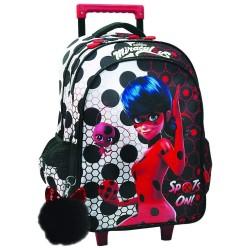 Miraculous Ladybug 45 CM Wheeled Backpack - Cart