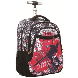 No Fear BMX 48 CM wheeled backpack - Cartable