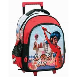 Milagrosa mariquita 30 CM mochila con ruedas - Bolsa de la escuela materna