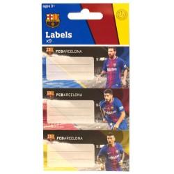 Lot de 9 étiquettes FC Barcelone