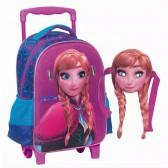 Sac à dos à roulettes maternelle La reine des neiges Anna 31 CM - Cartable Frozen