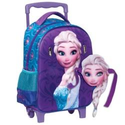 Sac à dos à roulettes maternelle La reine des neiges Elsa 37 CM - Cartable Frozen