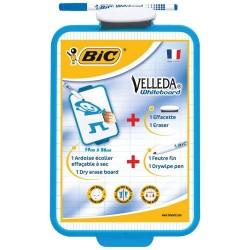 Ardoise BIC Velleda effaçable 2 faces avec un feutre et une brosse