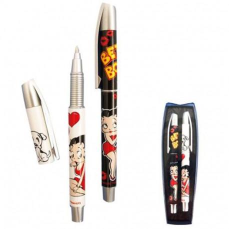 Coffret 2 stylos Betty Boop