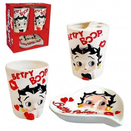 Betty Boop witte badkamer set