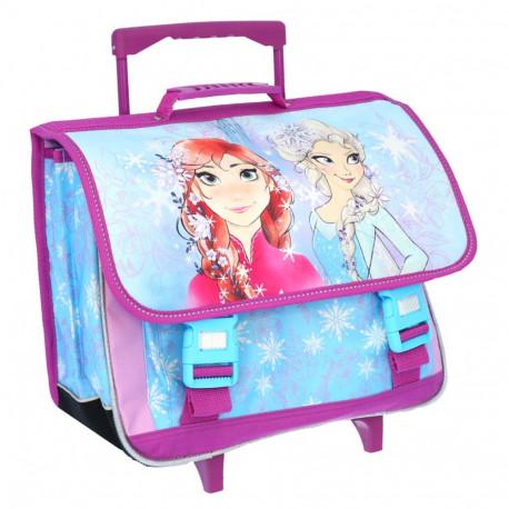 Cartable à roulettes Reine des neiges Sisters 41 CM Haut de Gamme - Frozen