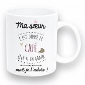 """Mug """"Sœur café"""""""