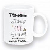 """Taza de """"Café de la hermana"""""""