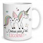 """Tazza """"Non posso avere unicorno"""""""