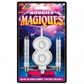 Bougies magiques Chiffre Anniversaire
