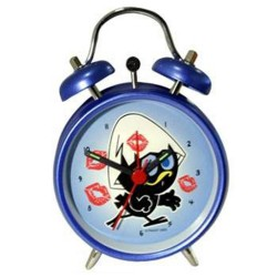 Alarm clock metal cage Blue 12 CM