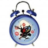 Alarm clock metal cage Blue 12 CM