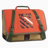 Cartable IKKS Army Orange 38 CM - Haut de gamme
