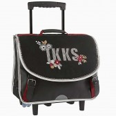 Cartable à roulettes IKKS Black Tea 38 CM