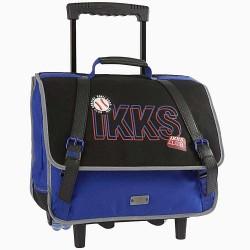 IKKS Stranger College Blue 38 CM wheeled binder