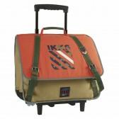 Cartable à roulettes IKKS Army Orange 38 CM