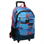 Backpack skateboard Rip Curl Proschool Poster Vibes Blue 46 CM - Trolley