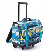 Cartable à roulettes Rip Curl Wheeley Satchel Surf Planet Blue 38 CM