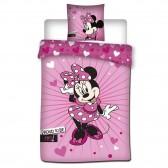 Parure housse de couette Disney Minnie 140x200 cm et Taie d'oreiller