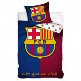 Parure housse de couette FC Barcelone 140x200 cm et Taie d'oreiller