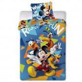 Parure housse de couette Mickey Disney 140x200 cm et Taie d'oreiller
