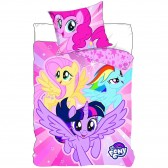 My Little Pony 140x200 cm duvet cover and pillow