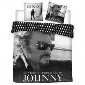 Parure housse de couette Johnny Hallyday 240x220 cm et Taie d'oreiller