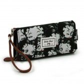 Betty Boop Negro Cartera Larga 21 CM