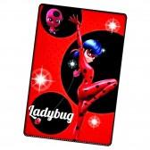 Plaid Polaire Miraculous LadyBug Rouge et Noir