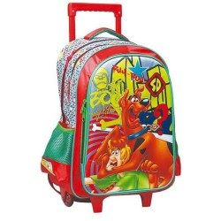 Scoubidou Boo 43 CM wielen rugzak-Scooby Doo trolley