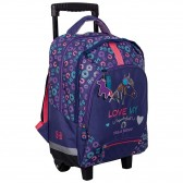 Stalla Bianca Violet 43 CM High-end Caratable Wheeled Backpack