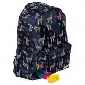 Hola Lama Blue Marine 43 CM Backpack - Borne