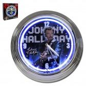 Horloge bleue neon Johnny Hallyday