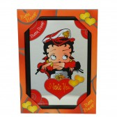 Miroir Betty Boop Biker I Love You