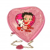 Betty Boop Heart Straw Coin Holder