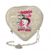 Porte monnaie Betty Boop Coeur Pailleté