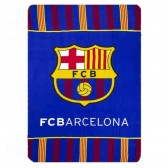 Plaid polaire FC Barcelone 100 x 140 cm - Couverture FCB
