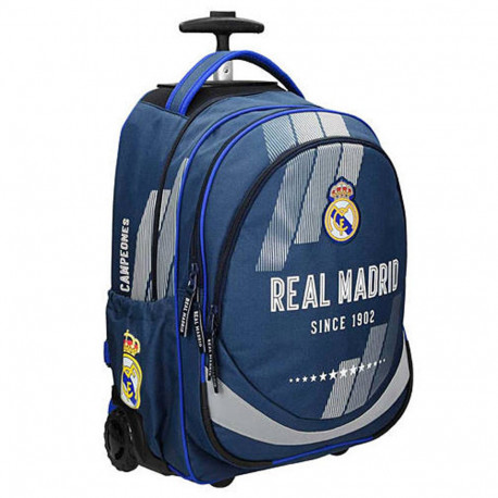 Sac à dos à roulettes Real Madrid Campeones 45 CM - 2 cpt - Trolley Cartable