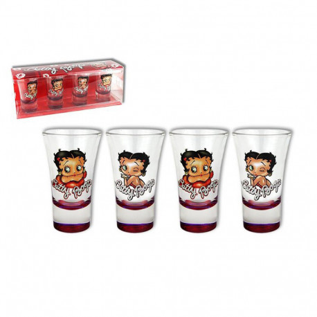 Coffret 4 shooter Betty Boop paillettes