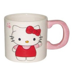 Becher weiß 2D Hello Kitty