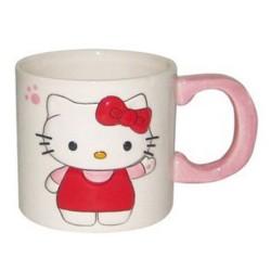 Taza blanca 2D Hello Kitty