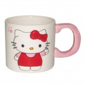 Taza blanca 2D Hello Kitty