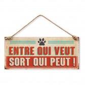 Placa de metal Atención al perro