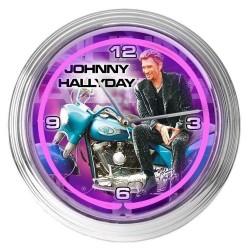 Johnny Hallyday VIOLET 39 CM Neon Pendule