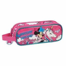 Trousse rectangle Minnie Mouse Licorne 21 CM - 2 cpt