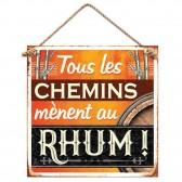 Plaque métallique Rhum